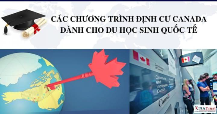 CAC CHUONG TRINH DINH CU CANADA DANH CHO DU HOC SINH QUOC TE