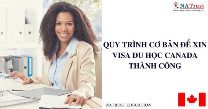 Quy trình cơ bản để xin visa du học Canada thành công