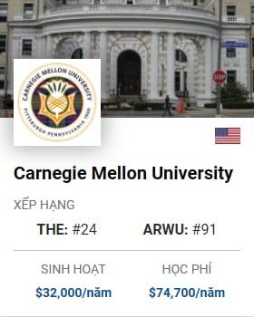 Du Học Mỹ: Carnegie Mellon University