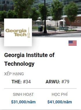 Du Học Mỹ: Georgia Institute of Technology