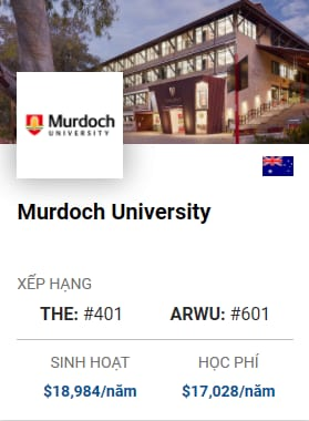 Du Học Úc: Murdoch University