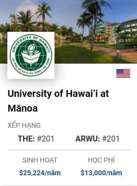 University Of Hawais At Manoa