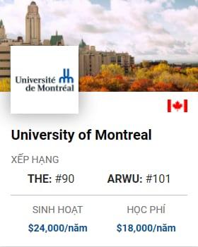 Du Học Canada: University of Montreal
