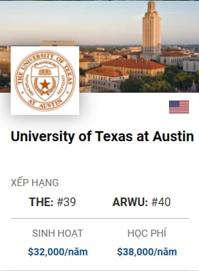 Du Học Mỹ: University of Texas at Austin