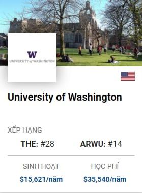 Du Học Mỹ: University of Washington