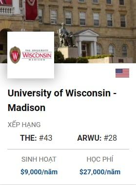 Du Học Mỹ: University of Wisconsin – Madison